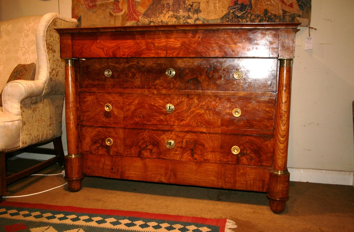 Stunning Burr Ash Empire Commode