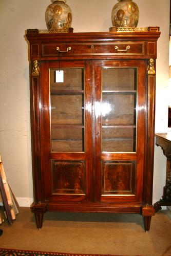 Empire French Mahogany Bookcase