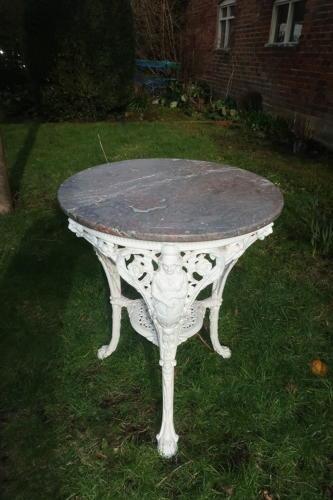 Britannia pub table with marble top