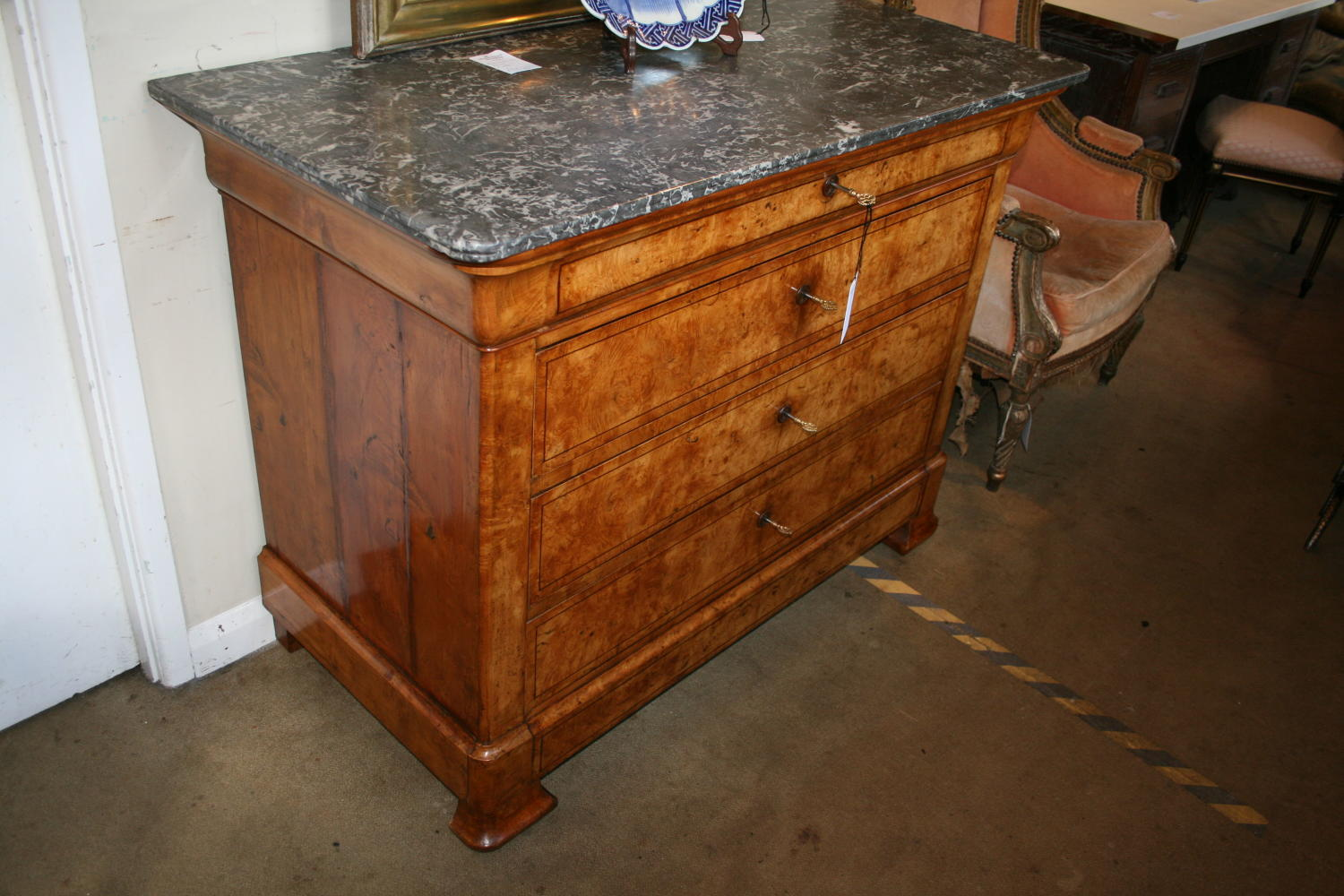 Charles X Period Maple Commode