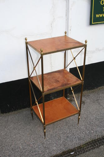 French etagere table