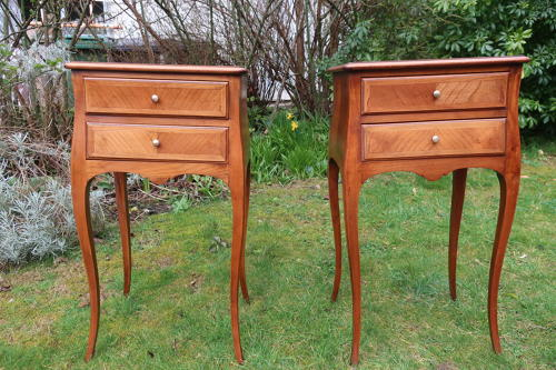 Pair of French bedsidetables in Ash