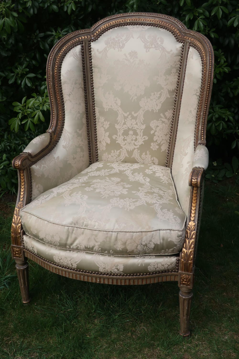 Painted French armchair