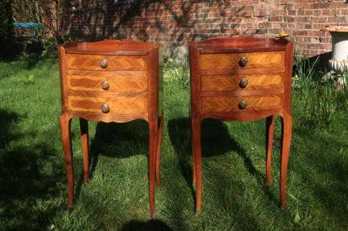 Pair of tulipwood bedside tables