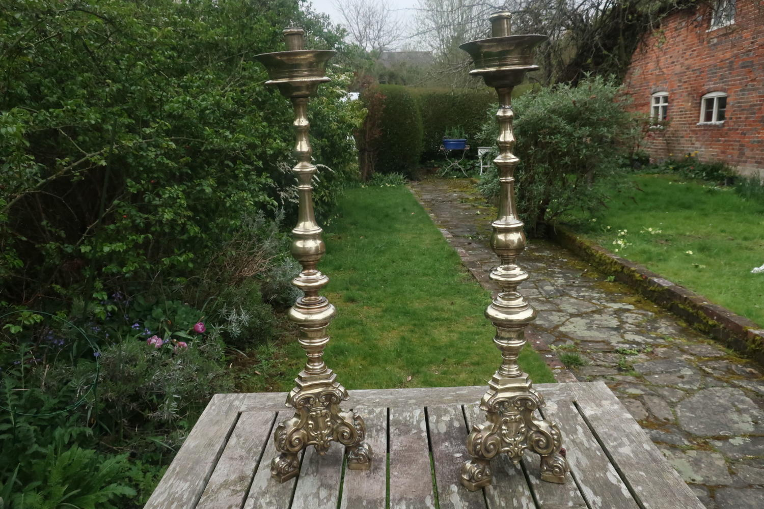 Pair of 18th Century altar sticks