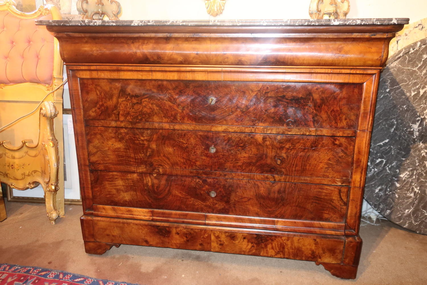 Burr Walnut Louis Philippe Commode