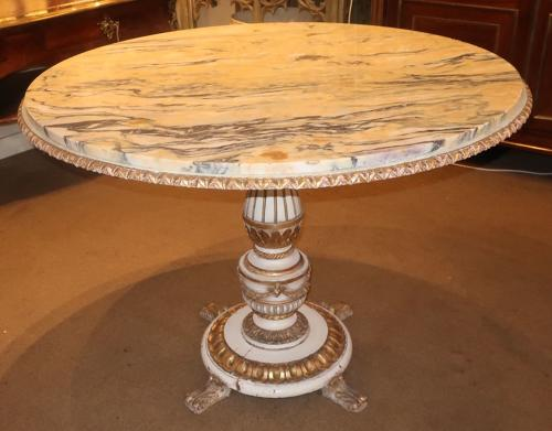 Painted and gilt centre table