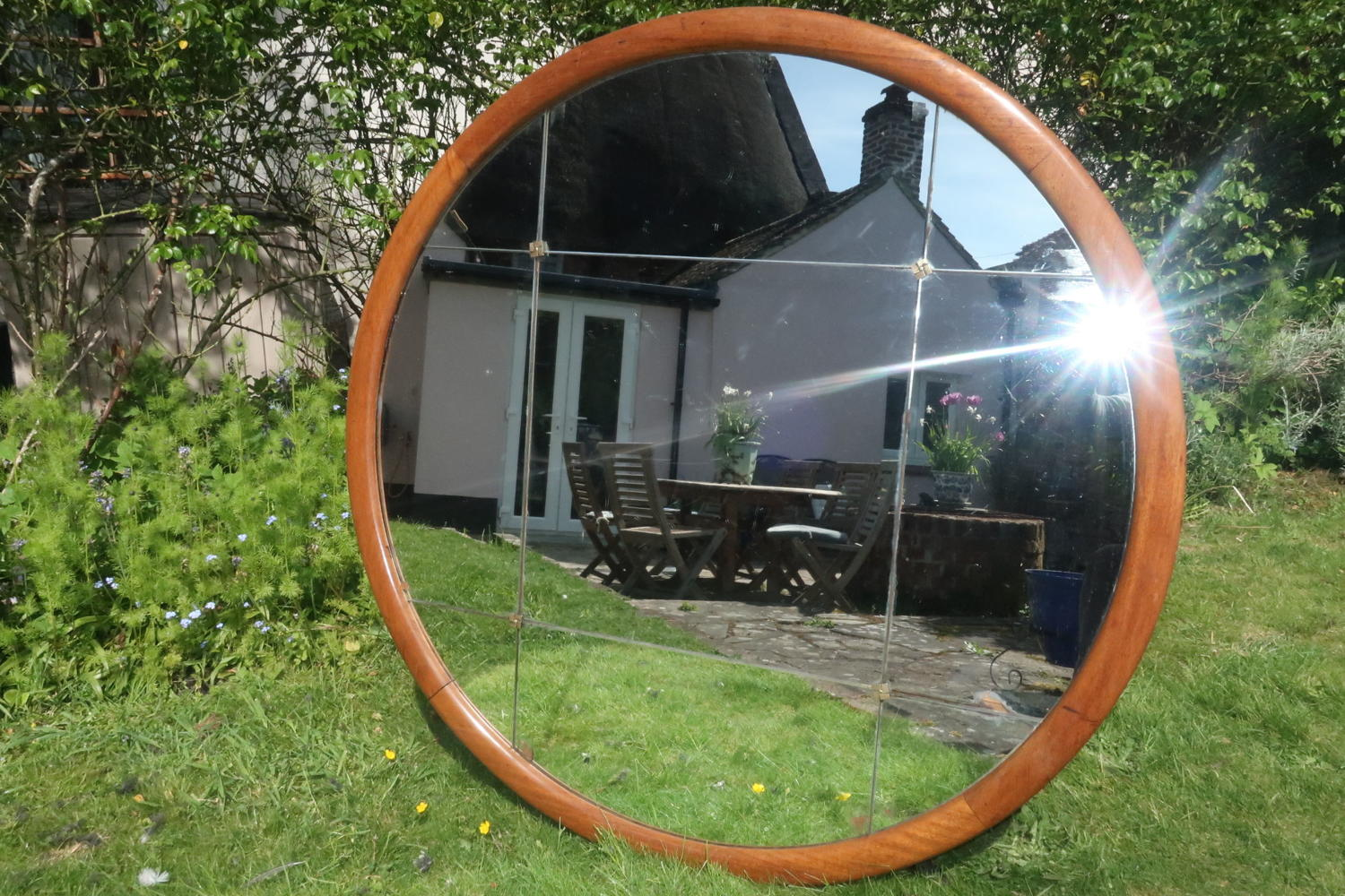 Very large walnut Mirror