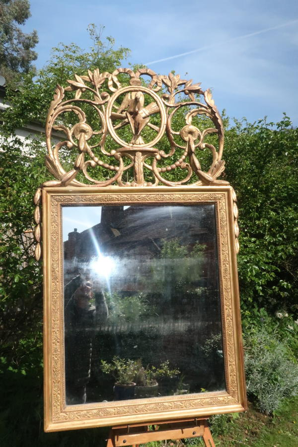18th Century Louis XVI Gilt Mirror