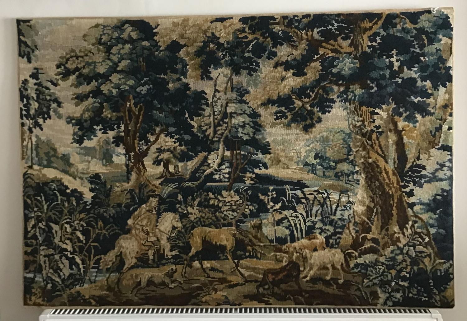 French wool tapestry
