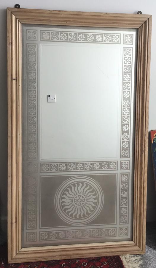 Art Deco bevelled framed mirror