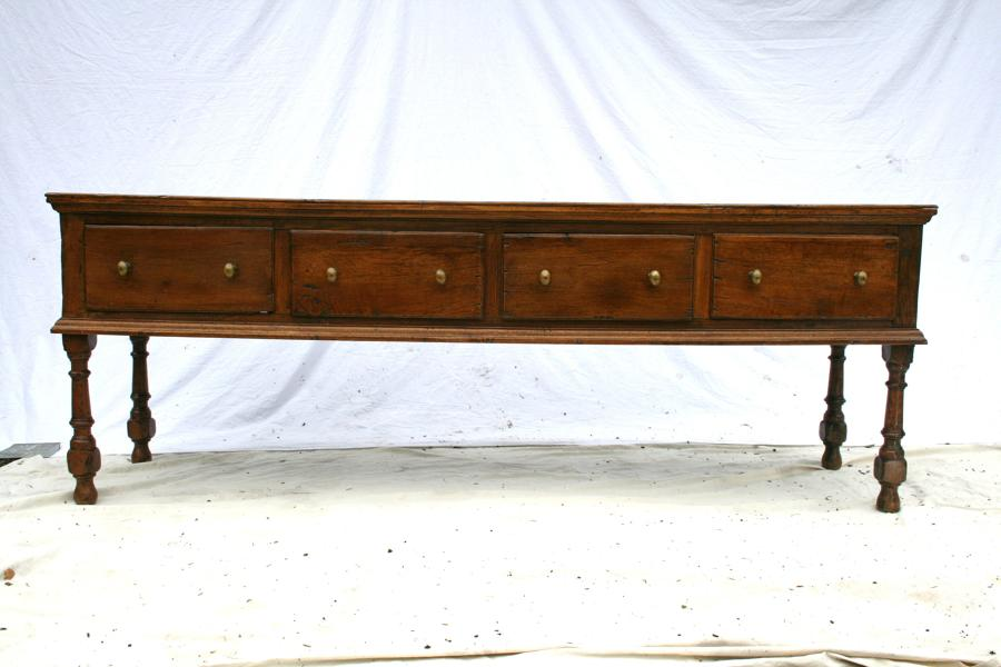 18th century English oak dresser base