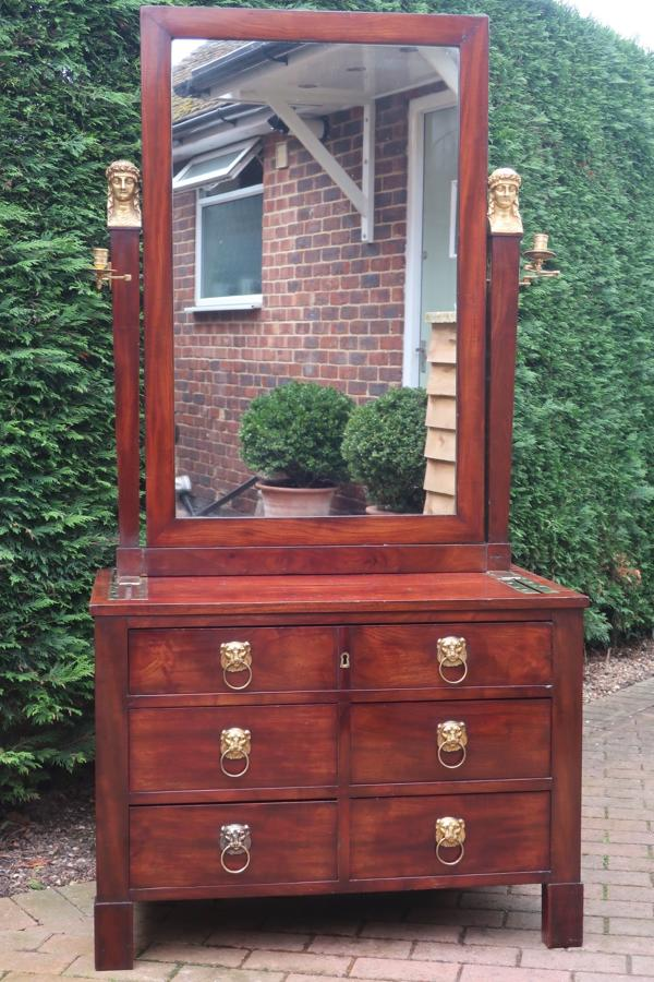 French Empire campaign dressing table