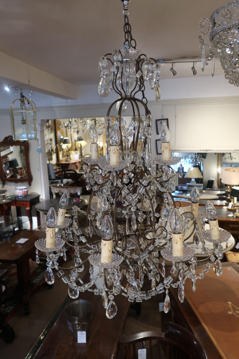 Large 12 branch chandelier
