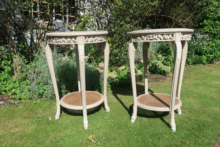 Pair of painted occasional tables