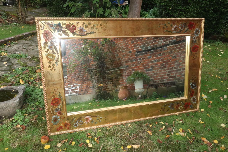 Large Verre Eglomise Mirror