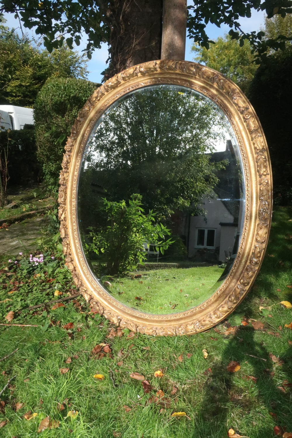 Large 18th Century oval mirror
