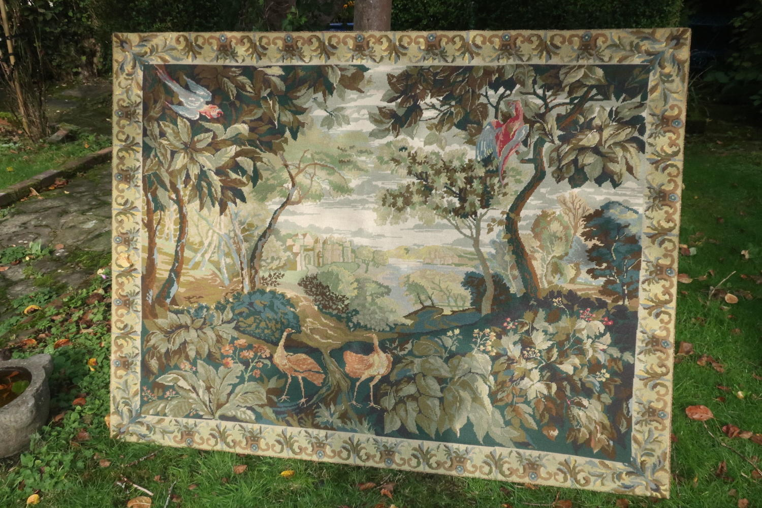 Large needlepoint tapestry