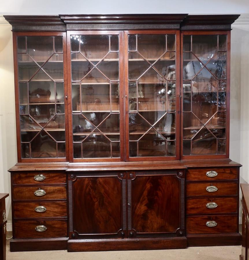 18th century breakfront bookcase