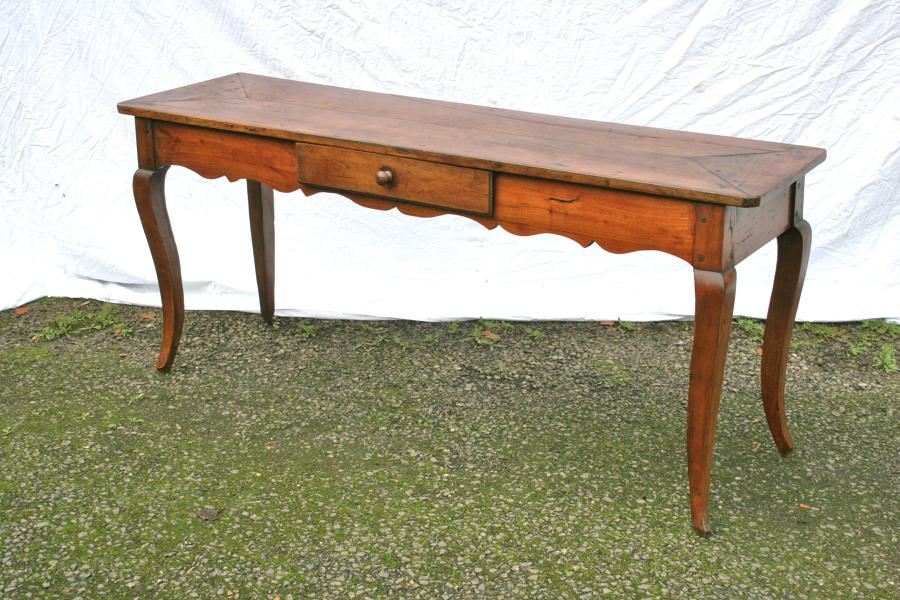 French Cherry Wood Serving Table