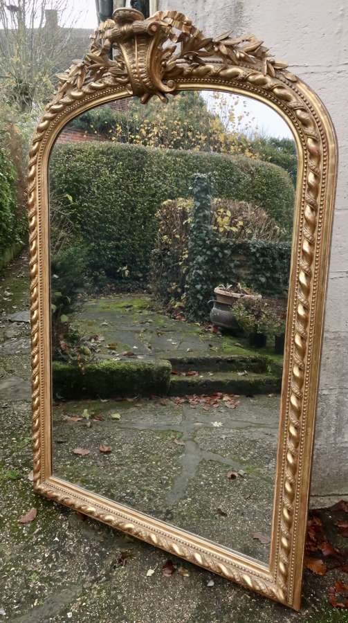 Very large rope twist gilt mirror