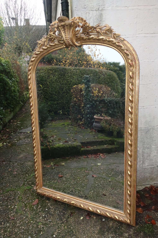 Very large rope twist gilt mirror