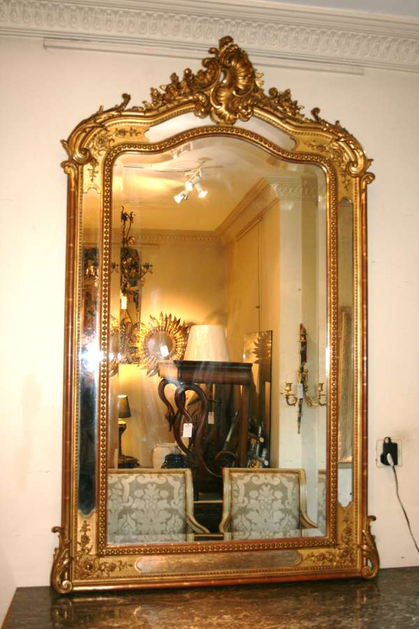 French Gilt Mirror