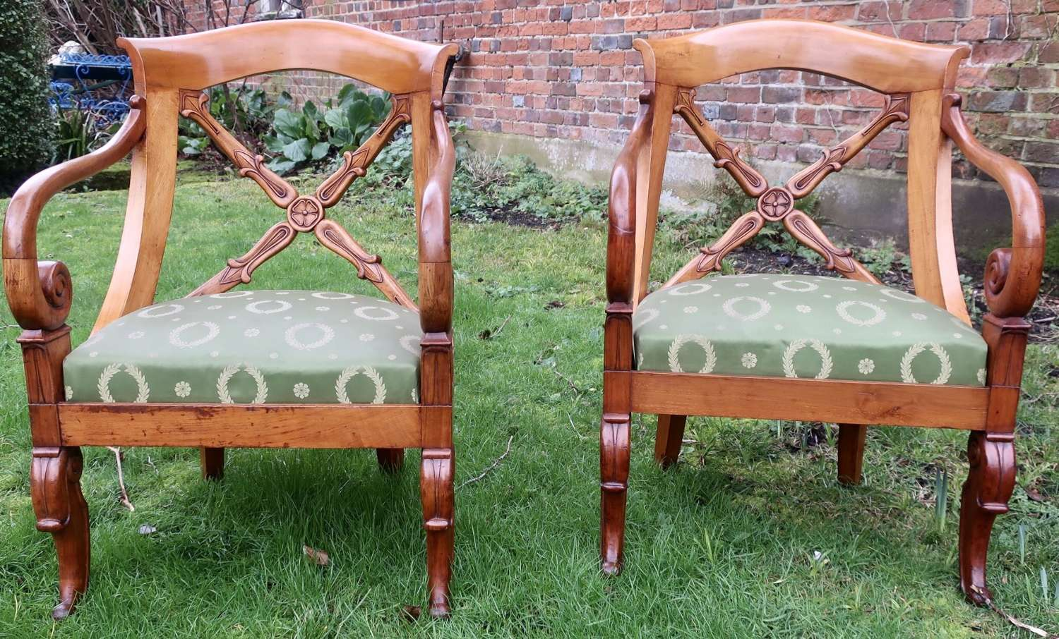 Pair of second empire armchairs