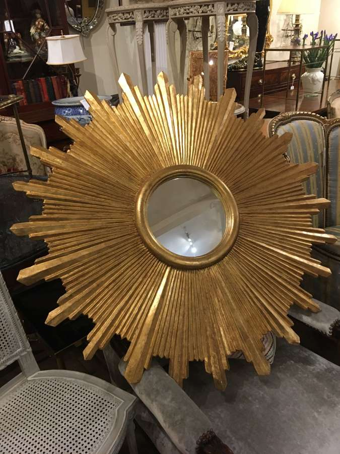 Very large sunburst mirror