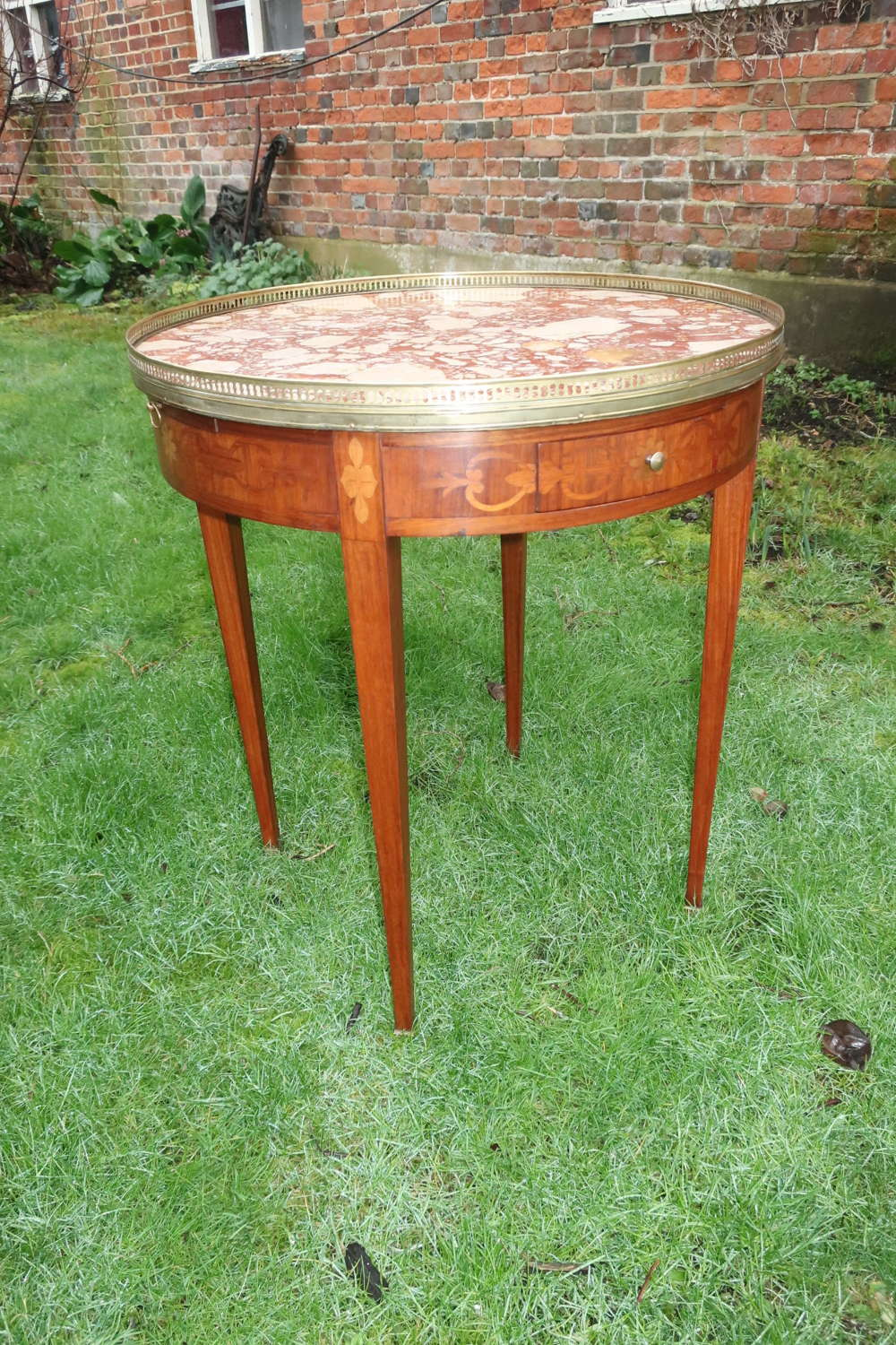 Marquetry Bouillotte table