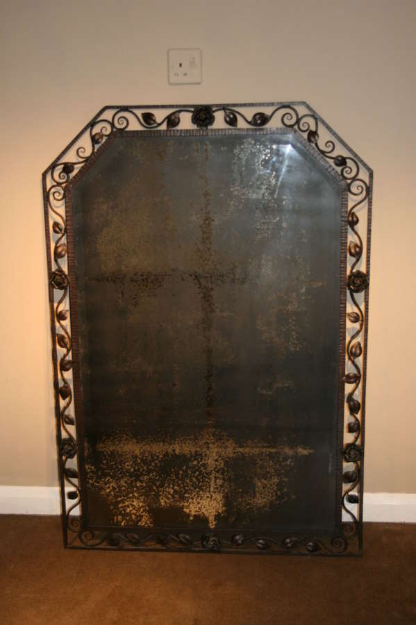 Crazy French Wrought Iron Mirror
