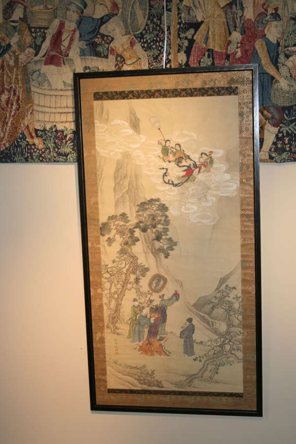 Japanese scroll painting on silk