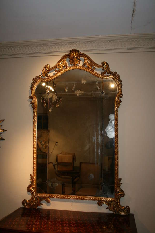 Wonderful Italian gilt 18th century mirror