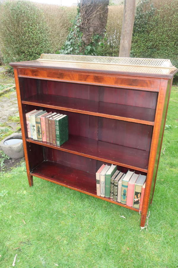 Inlaid mahogany bookcase