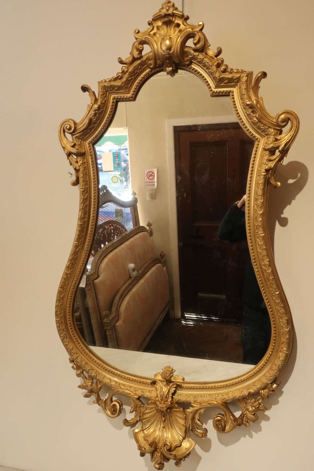 French gilt wall mirror