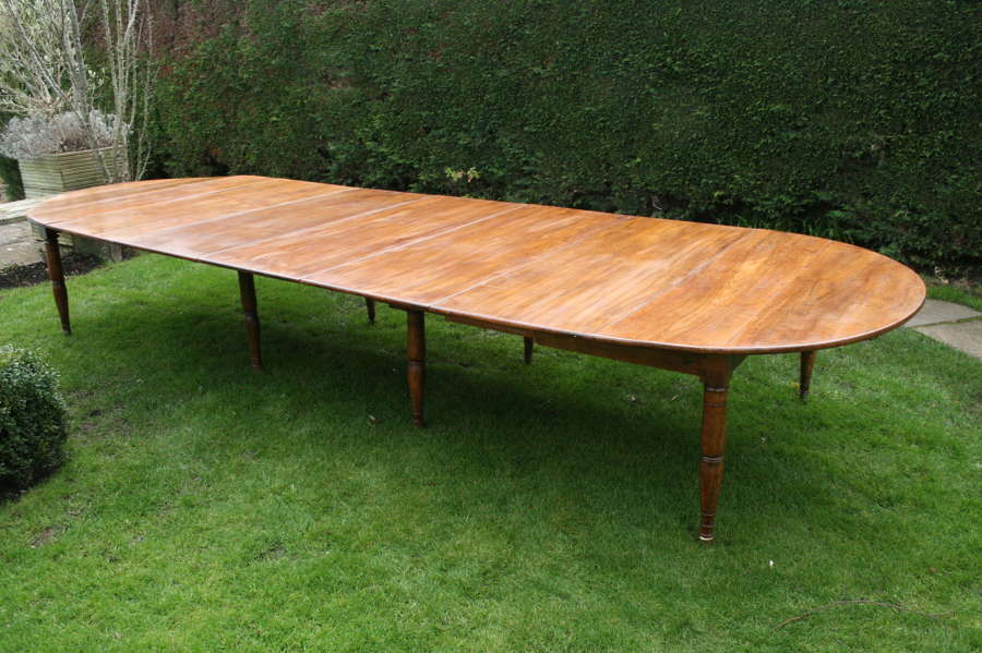 Very large French walnut table