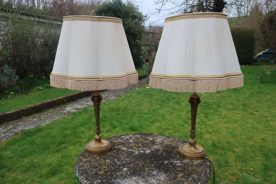Pair of cast neo.Classical lamps