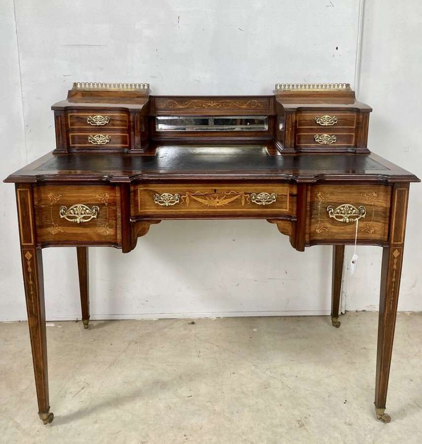 Marquetry writing table