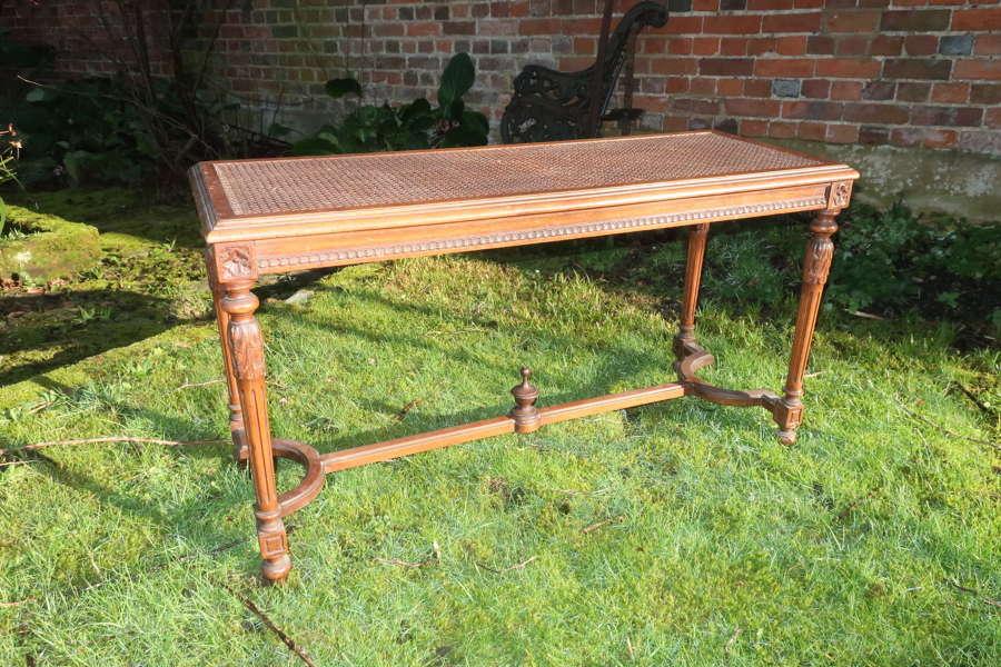 French walnut caned stool