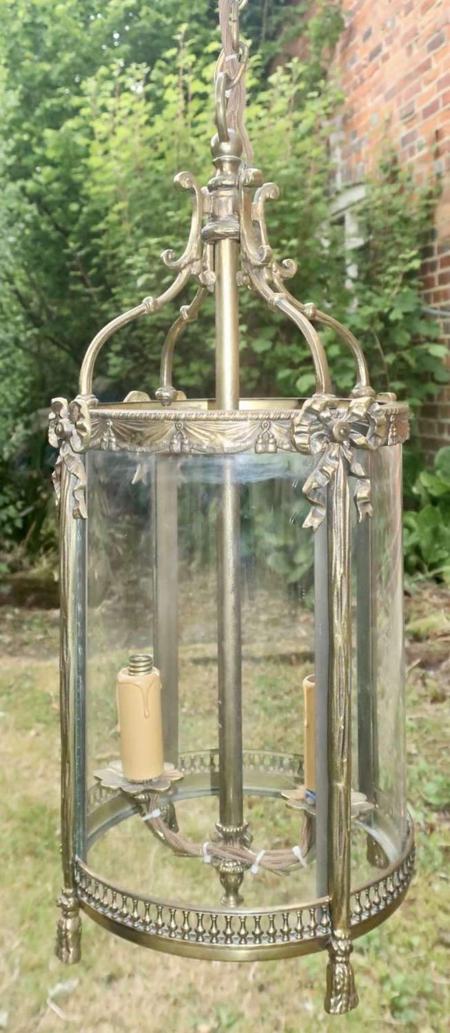 Brass hall lantern