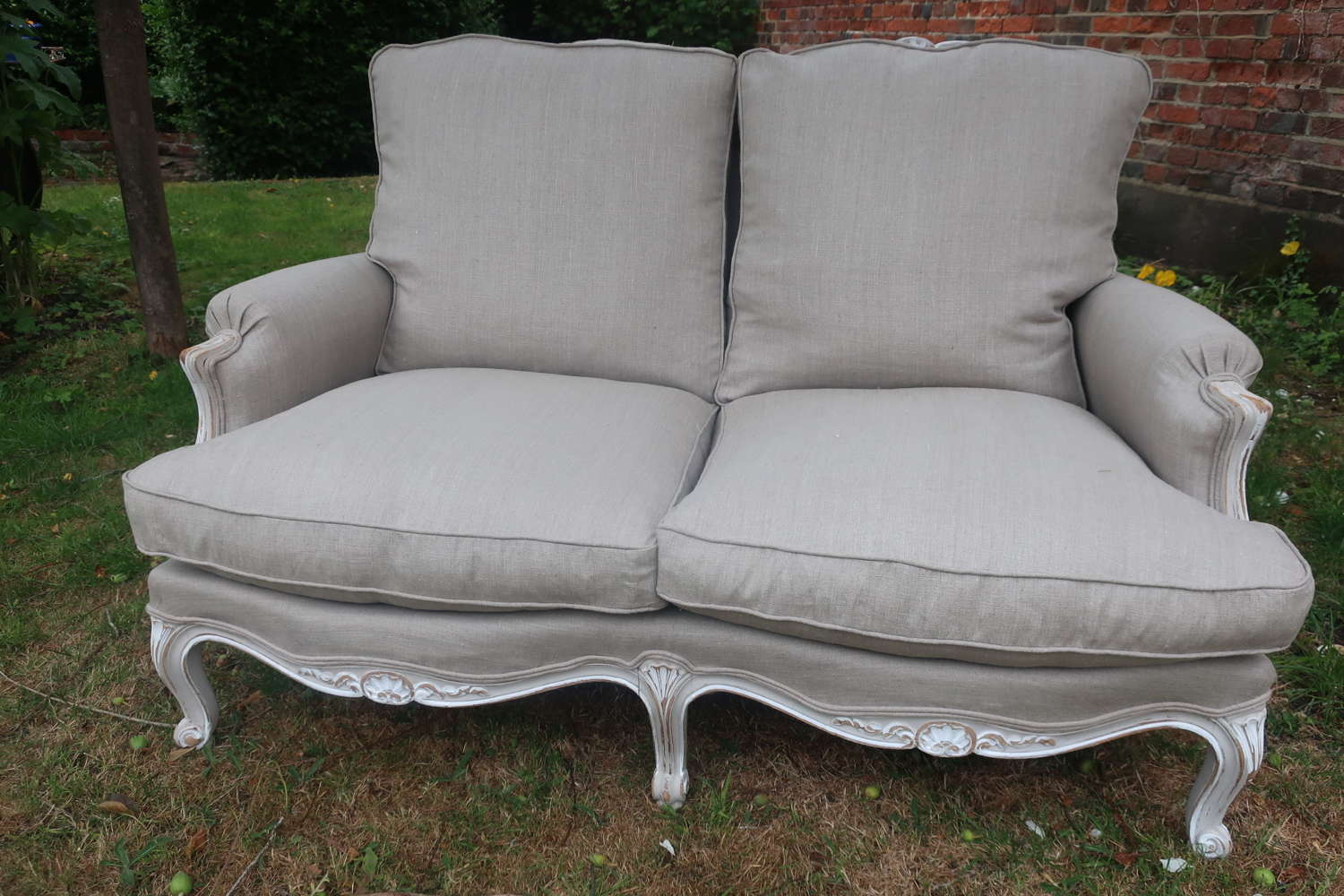 Two seater painted sofa