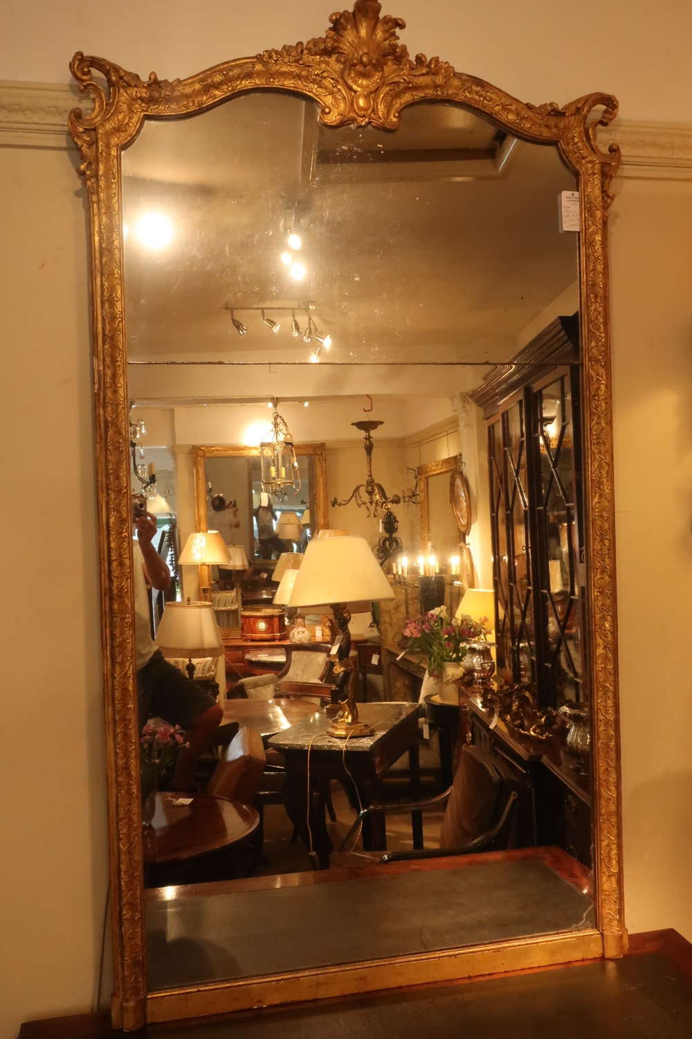 Large 18th Century Regence mirror
