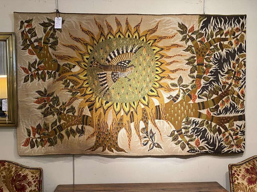 Large mid century tapestry by Michelle Ray