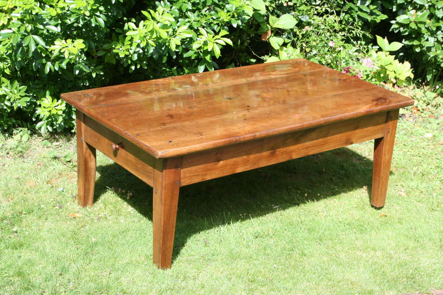 French Cherry Wood Coffee Table
