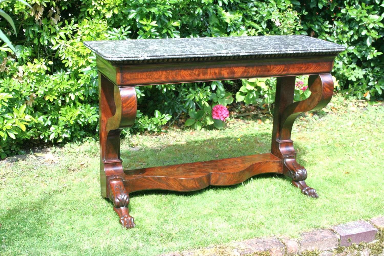 Louis Phillipe Period Console Table In Mahogany