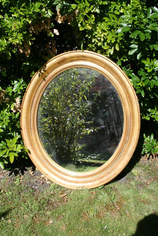 Victorian Oval Gilt Mirror