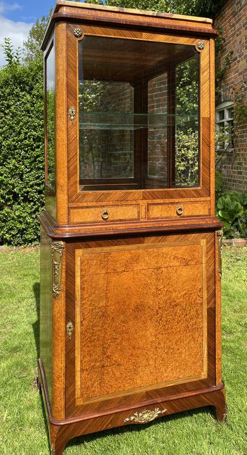 Amboyna and rosewood cabinet