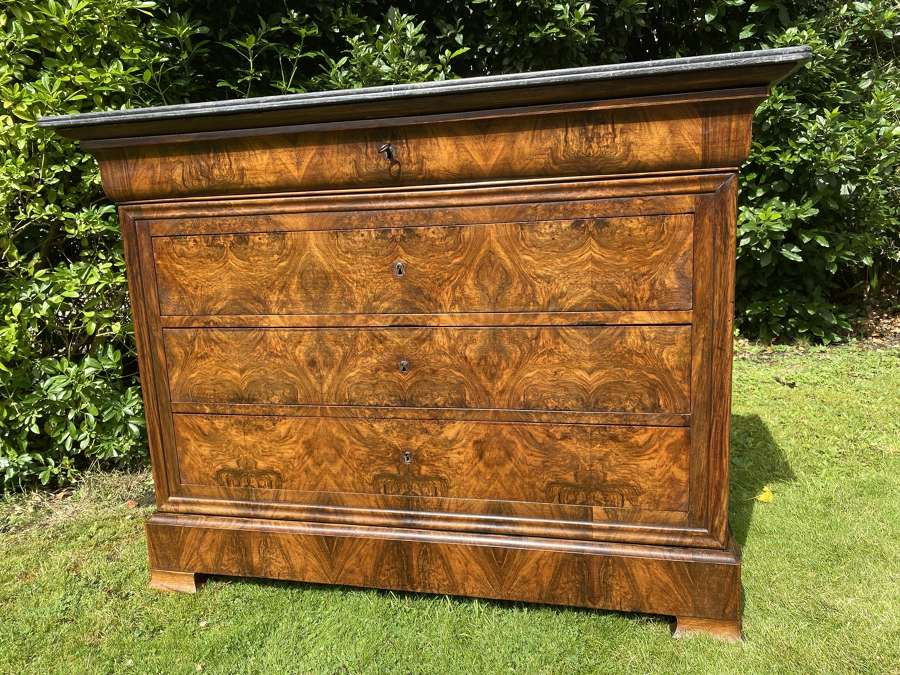 Louis Philippe burr walnut commode
