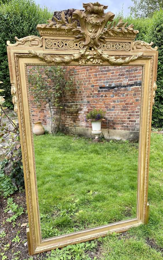 French gilt mirror with swags