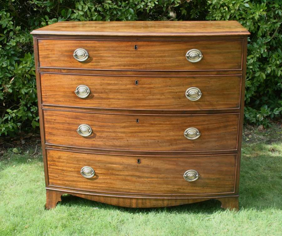 Georgian mahogany Bow front Chest of Drawers
